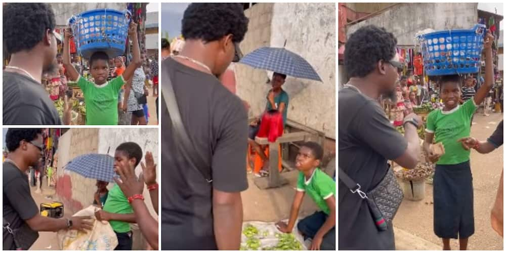 Reactions as stranger buys all the wares of street seller, gives her additional 10k for her widow mum
