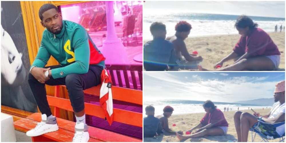 Daddy Duties: Teebillz Shares Adorable Video of Jam Jam and His Siblings Having Fun at the Beach