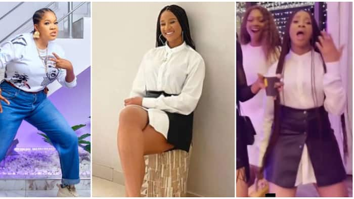 Toyin Abraham and Adesua Etomi step out in style rocking their husbands' clothes