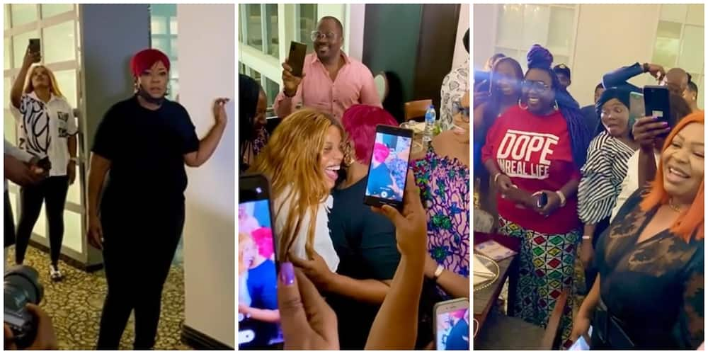 Emotional moment Ada Ameh was surprised by Nollywood colleagues on her birthday