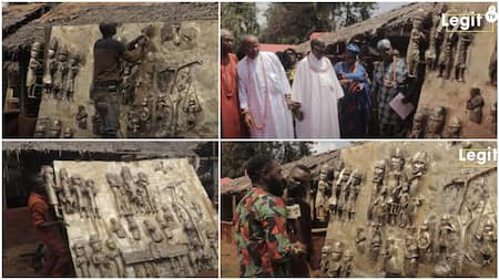 Young Nigerian man makes Benin people proud, builds the largest artwork in the kingdom