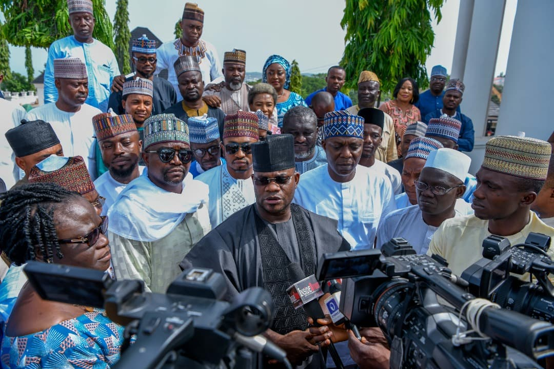 Governor Yahaya Bello of Kogi declares for second term