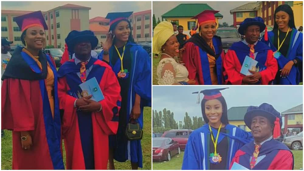 Father graduates the same day as his 2 daughters, many react