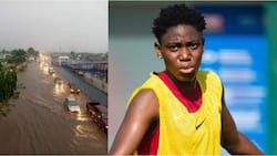 Oshoala claims she was told the rain in Lagos is more serious than most relationships in Nigeria, fans react