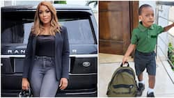 Children's Day: Linda Ikeji happy as son professes love to her for first time in cute video