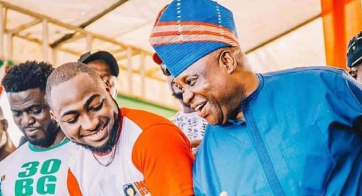 Davido celebrates as tribunal declares uncle Ademola Adeleke winner of Osun election