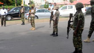 Nnamdi Kanu: Soldiers shut building materials market in Imo state