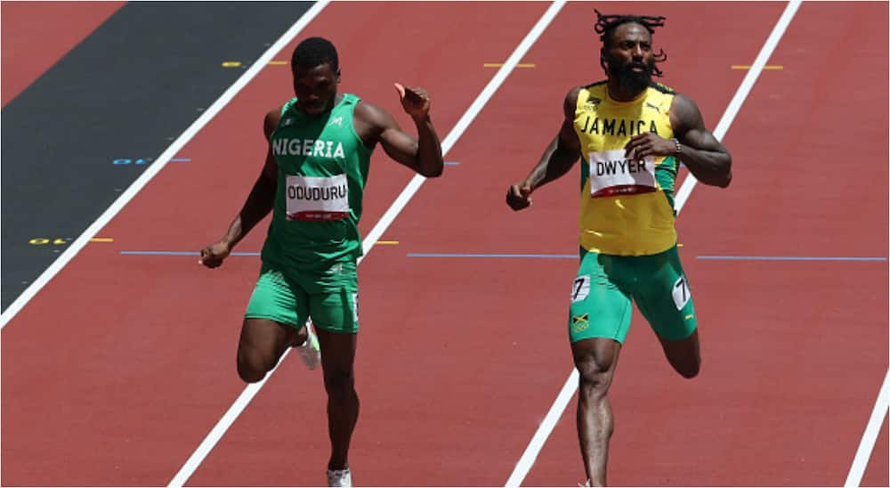 Nigerian athlete who ran 2nd best time this year in athletics qualifies for semi finals