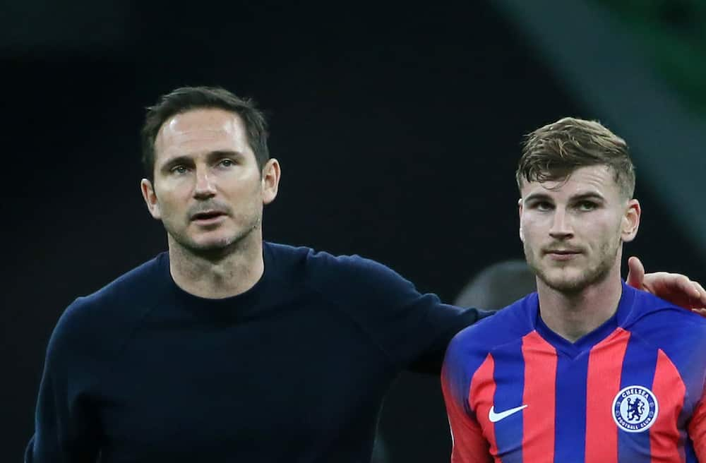 Timo Werner and Frank Lampard