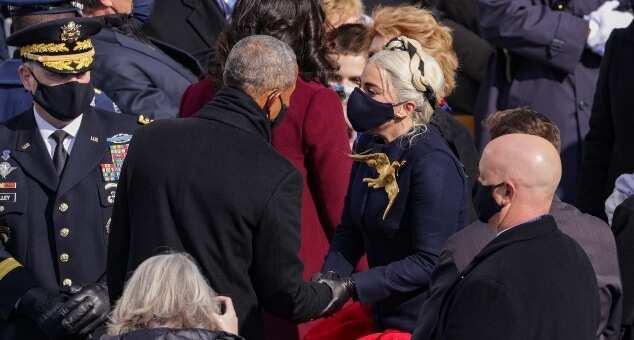 Lady Gaga stuns at Biden's inauguration, sings national anthem with golden mic