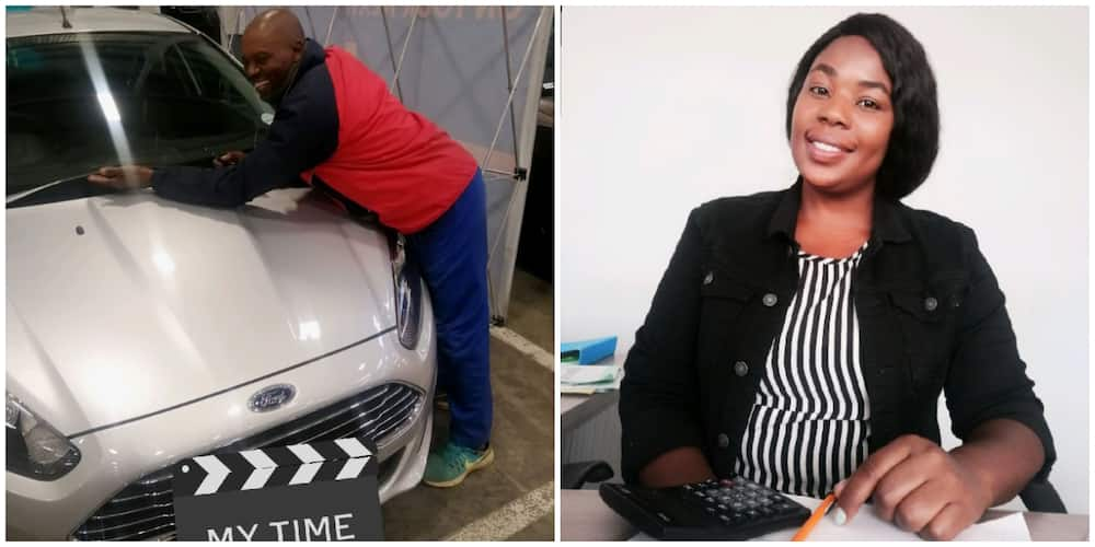 Reactions as lady celebrates buying car and graduating from university, says she is the first in her family
