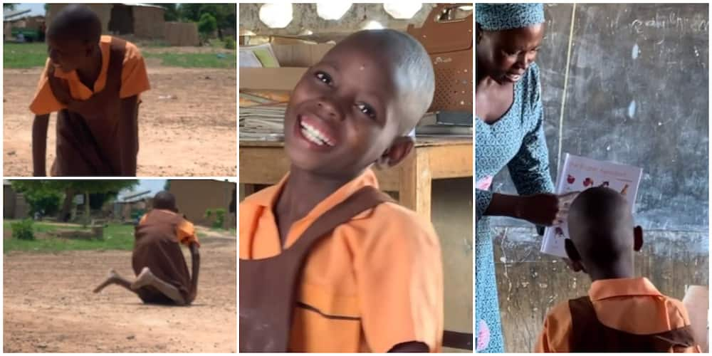 Social media reacts to video of 9-year-old Agnes who crawls to school everyday and has never walked in her life