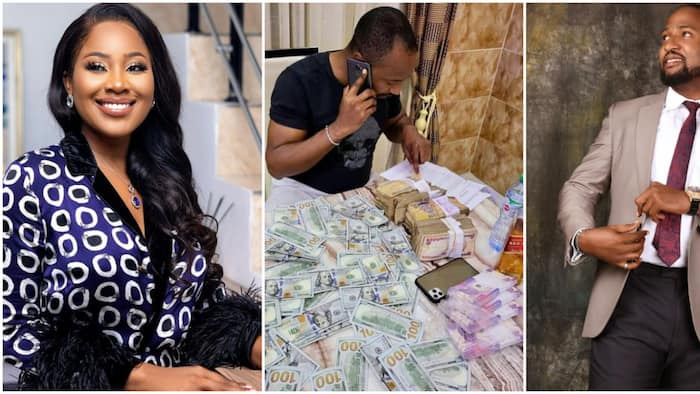 Ultimate Love star Kachi 'in trouble' for asking of Erica's bride price while displaying naira, dollar notes
