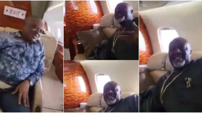 I rebuke poverty in Jesus name: Dino Melaye declares as he flies private jet with Orji Uzor Kalu, many react