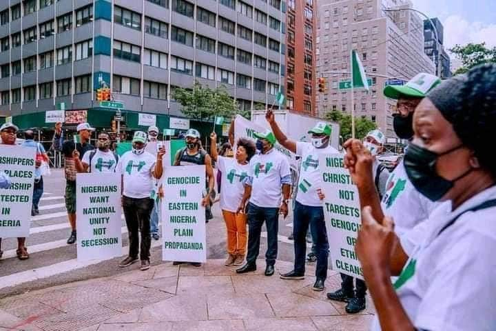 Nigerian in New York campaigning against secession
