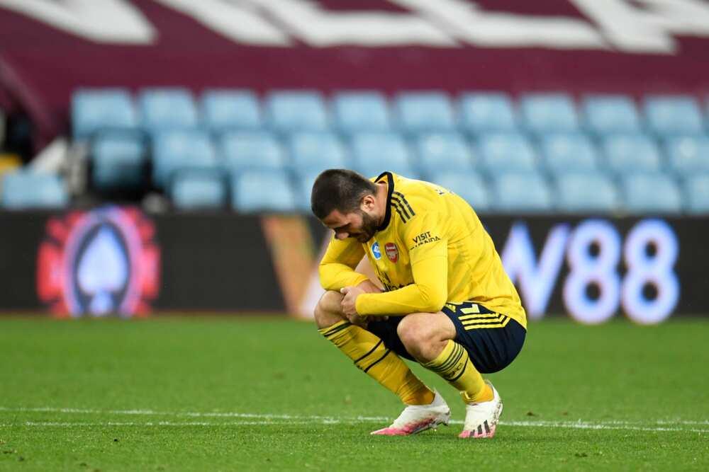 Sead Kolasinac in action for Arsenal