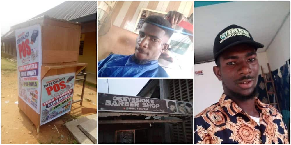 Young man show off the numerous businesses he does as a student, leaves many stunned