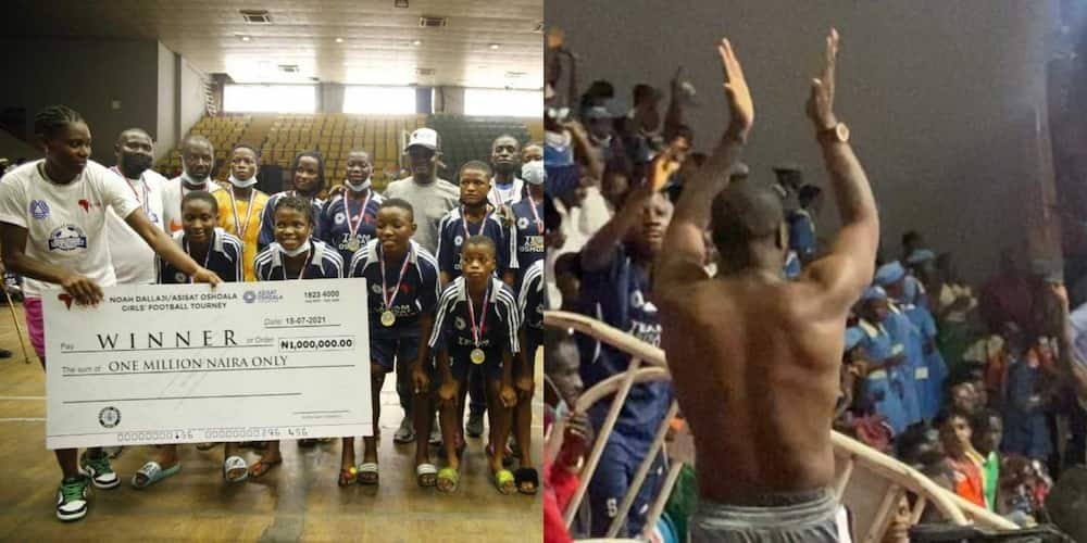 Mr P of PSquare Performs Shirtless As Dallaji and Oshoala Team Up For Girls and Para Soccer Championship