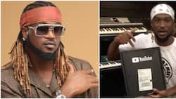 Fans congratulate singer Paul Okoye as he receives package from YouTube for 1m subscribers