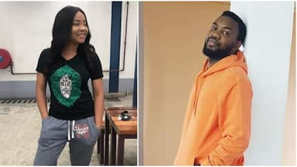 Nigerians react at news of relationship between TV show co-stars Linda Ejiofor and Ibrahim Suleiman (photos)