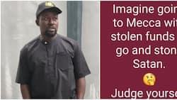 Imagine going to Mecca with stolen funds to stone Satan, actor Sunny Alli blasts thieves, fans react
