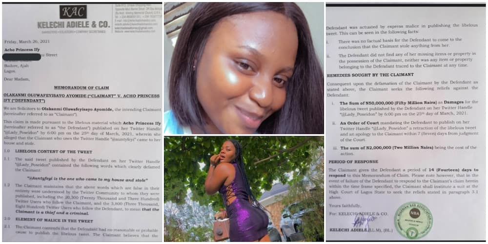 Nigerian Woman to Sue Another Lady over Post on Social Media, Demands N50m, Shares Paperwork, Many React