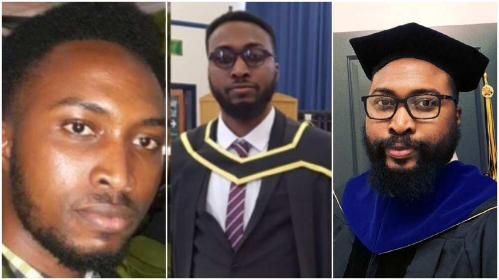 Munonyedi Egbo got his first degree from the University of Nigeria, Nsukka.