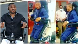Fans in awe as gospel musician Yinka Ayefele stands on his feet again (video)