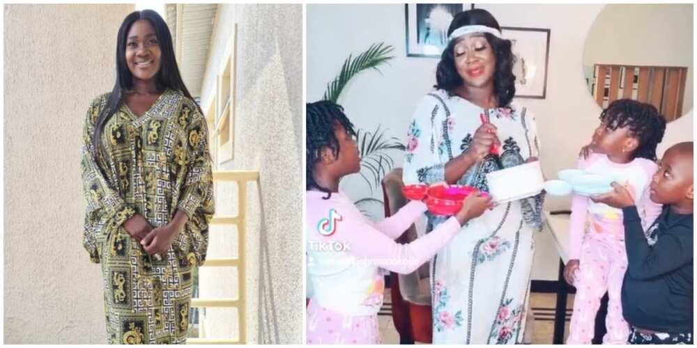 Nollywood actress Mercy Johnson Okojie shares hilarious TikTok video with her kids