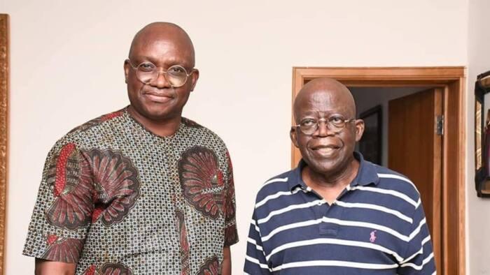 Fayose visits Tinubu in Lagos, says he remains a PDP member