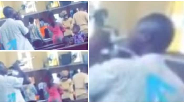 Man caught taking his 'communion bread' with soda during church service, video goes viral