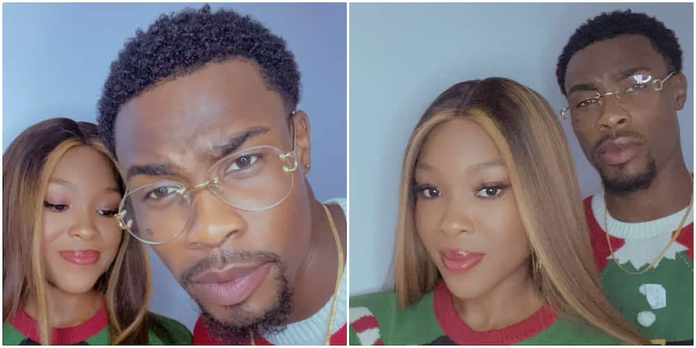 BBNaija's Vee and Neo spend Christma together, send warm greetings to fans with cute photo