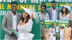 Miss Pepeye of Papa Ajasco legally ties the knot with Super Eagles star Olayinka Peter