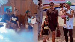 Super Eagles star shows off his beautiful family as he flies them on private jet for his mum's burial