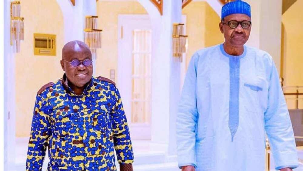 Buhari ya yi ganawar sirri da takwaransa na Ghana a Abuja