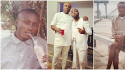 Thank God for money: Fans react to funny throwback photos of Davido's PA Isreal in school uniform