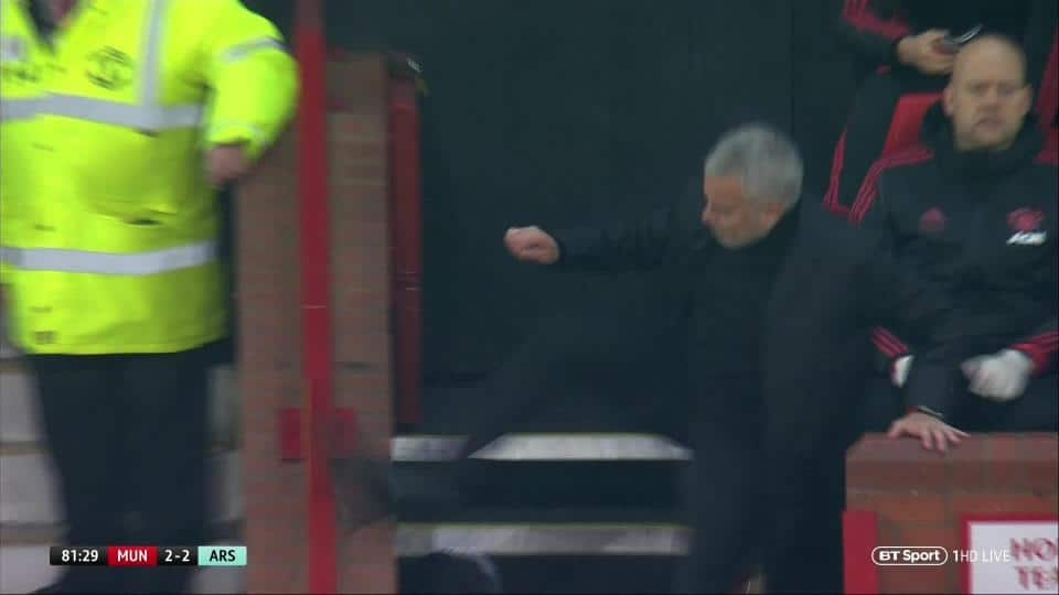 Checkout what Mourinho did to young fan after kicking the wall in anger (photo)