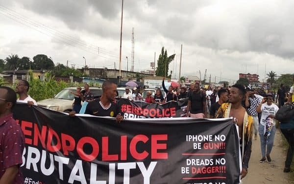 EndSARS protesters take over streets in Delta, reject SWAT
