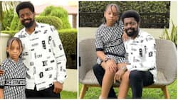 Tell Your Sons to Beware: Basketmouth Sends Warning as He Shares Photos with Daughter