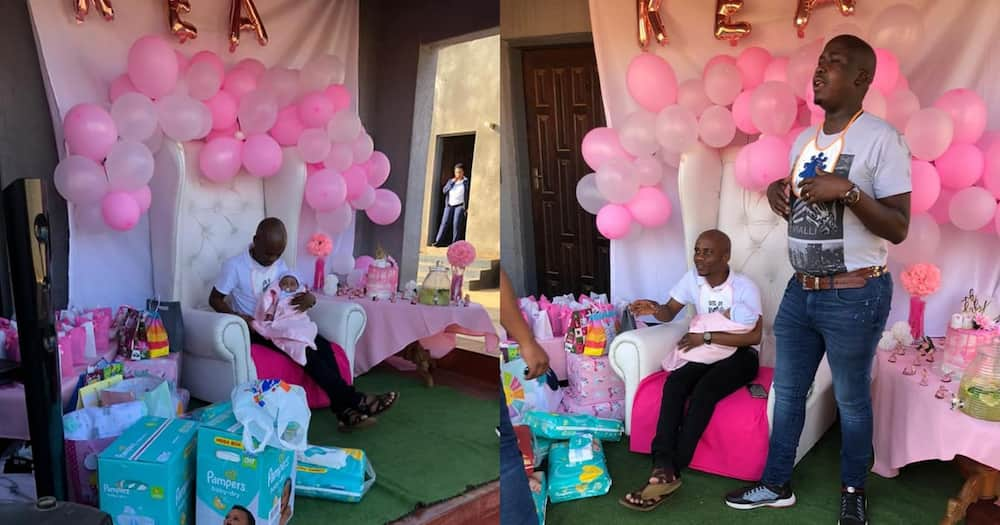 Plot twist: Young dad receives surprise baby shower from his friends