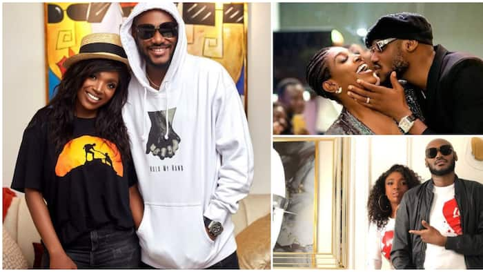 2baba almost kisses Annie in romantic photo as he marks new age, says he's not perfect, many happy for couple