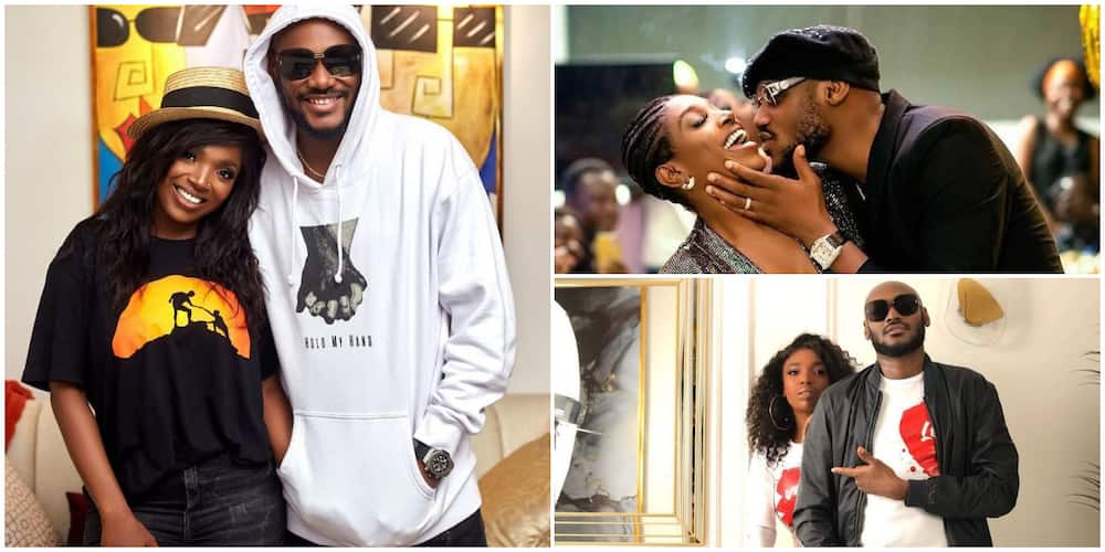 2baba almost kisses Annie in romantic photo as he marks new age.