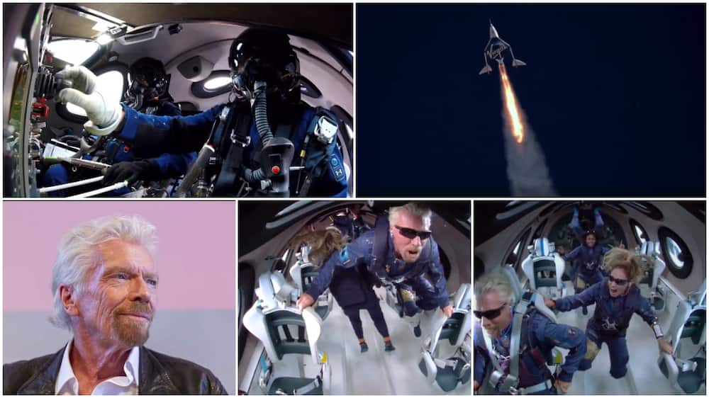 People were wowed when they saw the moment he landed in space.