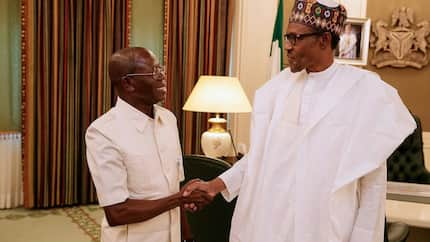 2019: Buhari, Oshiomhole meet behind closed-doors