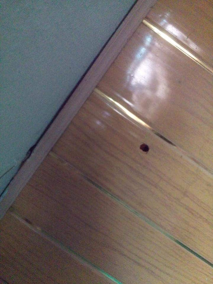 Pretty lady escapes being hit by a stray bullet in her room (photos)
