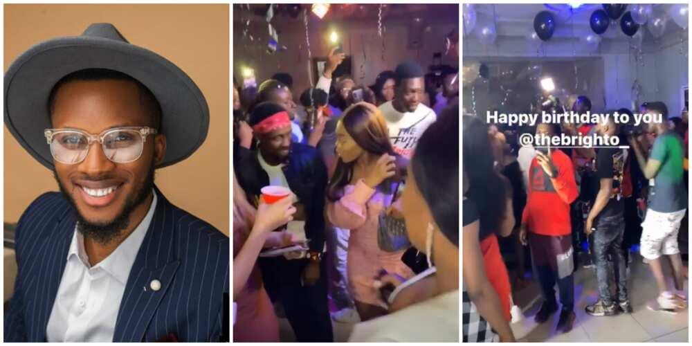 BBNaija stars, ex-Ultimate Love guests attend Brighto's birthday party