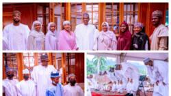 Eid-el-Fitr: Lovely photos emerge as Buhari, Aisha, family members celebrate festival at Presidential Villa