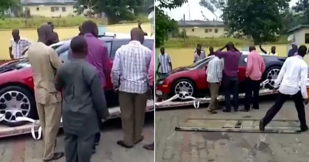 Bugatti Veyron: One of world's most expensive car worth N1billion spotted in Nigeria (video)