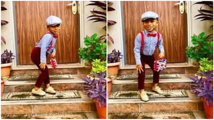 Tonto Dikeh's son storms end of year school party with old school swag, he is super adorable (photos)
