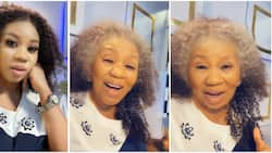 Beautiful grandma: Fans react as actress Wumi Toriola shows them how she would look at 78 in funny video